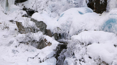 Falls under the ice Footage