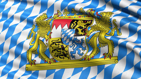 Bavaria flag seamless loop Animation