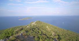 Aerial, Train Bridge Over Mala Rijeka, Montenegro - Native Material, straight ou Footage