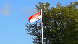 the Croatian flag Footage