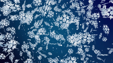 Christmas New Year Falling Snowflakes