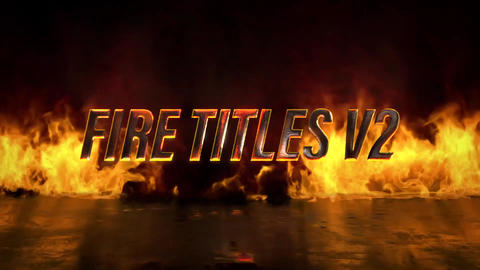 Fire Titles V2 Motion Graphics Template