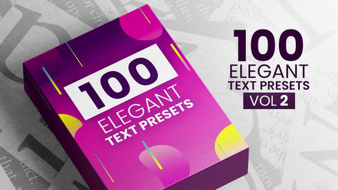 Elegant Text Presets Vol2 After Effectsアニメーションプリセット