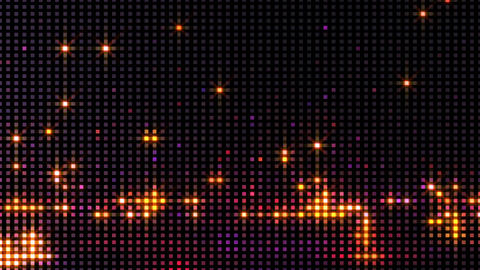 Glittering Led Lights Video Wall Motion Background Animation