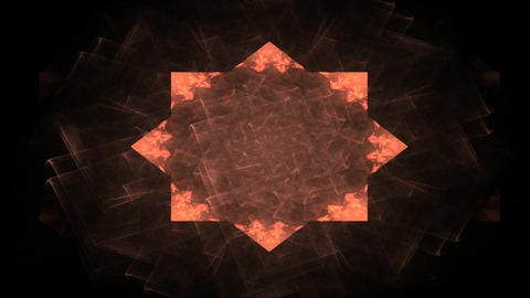 Abstract beautiful background. Modern wave illustration - abstract fractal psychedelic shape Animation