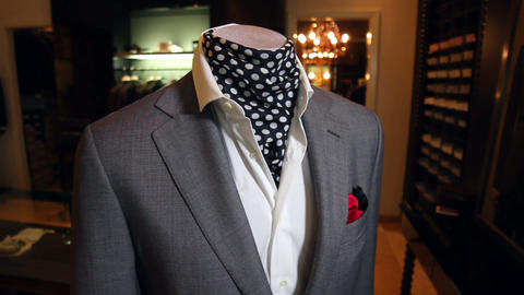 Stylish mens suit mens jacket on a mannequin mens clothing Live Action