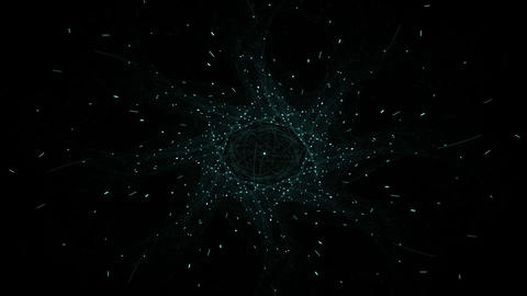 Computer-generated 3D fractal. Close-up texture spheres in color. Elegant abstract fractal Animation