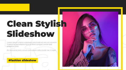 Clean Stylish Slideshow After Effects Template