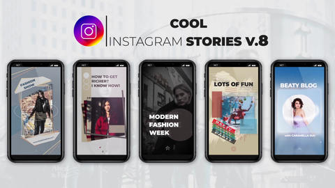 Cool Instagram Stories v 8 After Effects Template
