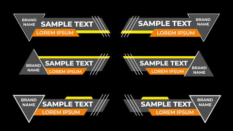 Dynamic Lower Thirds Motion Graphics Template