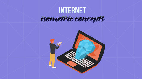 Internet - Isometric Concept After Effects Template