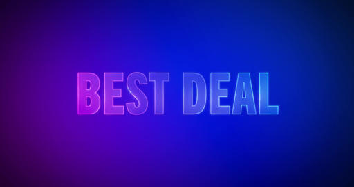 Best deal. Electricity Logo Animation