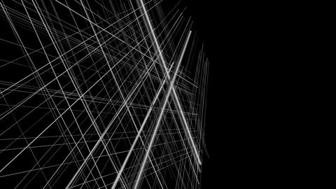 Fantastic video animation with stripe object in motion, loop HD Animation