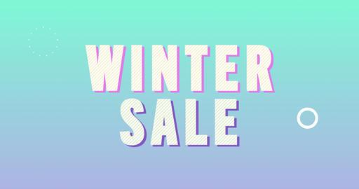Winter sale. Retro Text Animation Animation