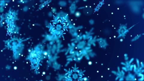 Christmas New Year Falling Snowflakes 2
