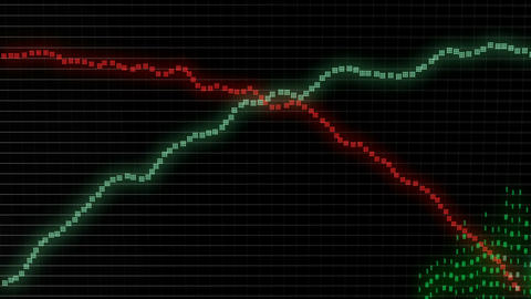 growth and success business green graph or chart and red recession graph Animation