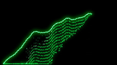 growth and success business green graph or chart 3d animation Animation