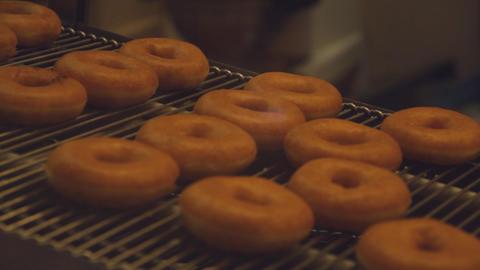 Doughnut machine in factory Footage