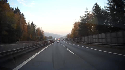 Driving on highway Footage