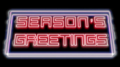 Season's Greetings original - Neon Signage Bad TV Animation