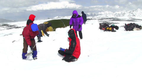 Climber Camping Footage