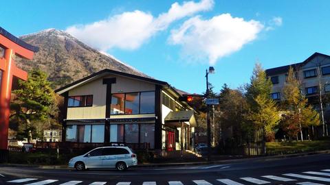 Tourist spots in Japan. Torii near Lake Chuzenji Footage