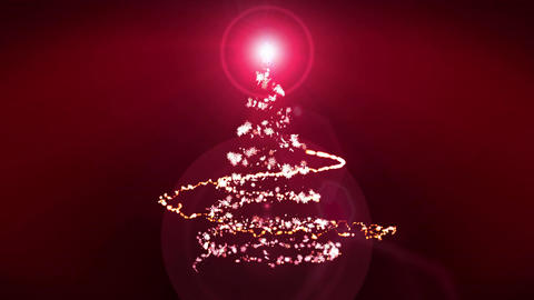 Christmas Illumination,Christmas tree,Red,Loop Animation
