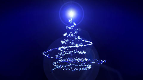 Christmas Illumination,Christmas tree,Blue,Loop CG動画素材