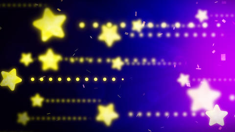 Bright and shining stars,CG Animation,Blue,Loop CG動画素材