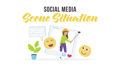 Social media - Scene Situation After Effects Template