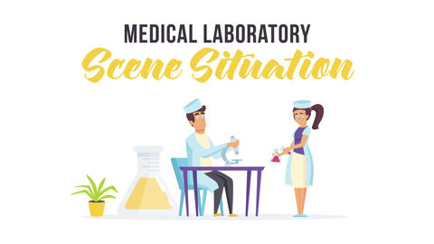Medical laboratory - Scene Situation After Effects Template