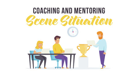 Coaching and mentoring - Scene Situation After Effects Template