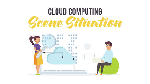 Cloud computing - Scene Situation After Effects Template