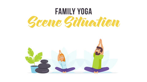 Family yoga - Scene Situation After Effects Template