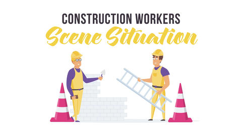 Construction workers - Scene Situation After Effects Template
