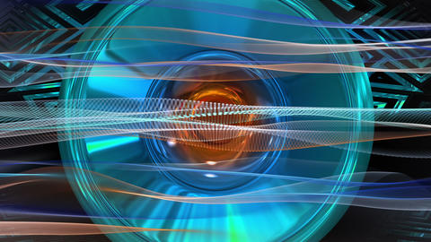 Fantastic video animation with wave object and background in motion, loop HD Animation