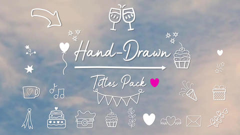Hand-Drawn Titles Pack for FCPX 애플 모션 템플릿