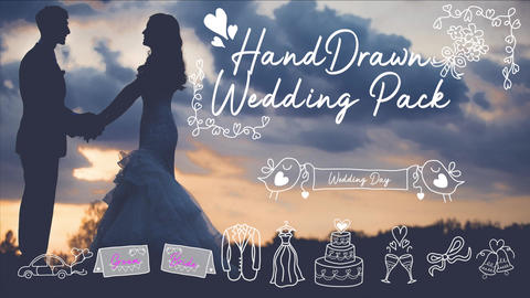 HandDrawn Wedding Titles Pack For FCPX Apple Motion Template