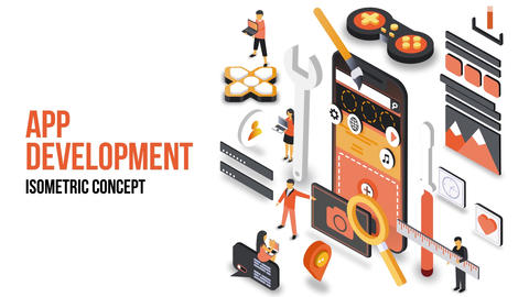 App Developing - Isometric Concept After Effects Template
