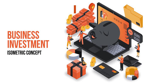 Business Investment - Isometric Concept After Effects Template