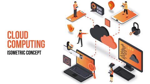 Cloud Computing - Isometric Concept After Effects Template
