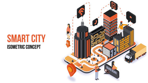 Smart City - Isometric Concept After Effects Template