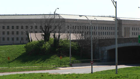 Pan-right of the Pentagon Building and Freeway Stock Video Footage