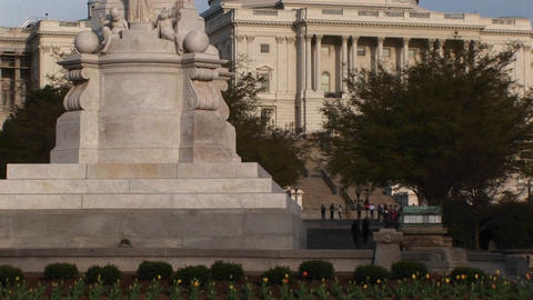 The forty-five foot tall Peace Monument dominating the... Stock Video Footage