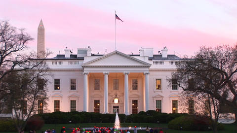 Looking towards three American icons: the White House,... Stock Video Footage
