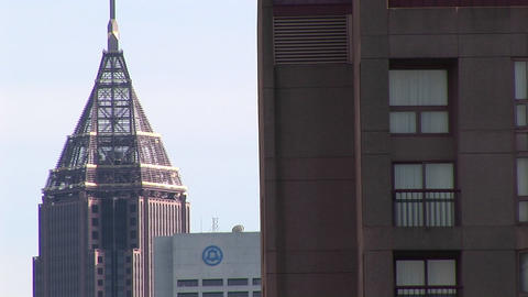 A medium-shot of a small section of the skyline in... Stock Video Footage