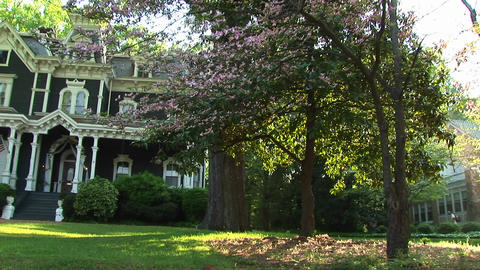 A medium shot of a lovely old home Stock Video Footage