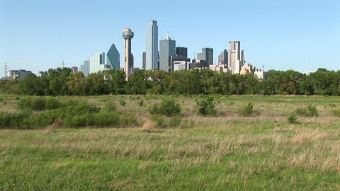 The skyscrapers rise high above the city of Dallas, Texas Footage