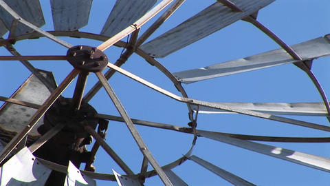 Close-up of the blades of a windmill spinning Footage