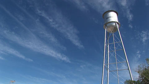Long-shot of the Marfa water tower Stock Video Footage